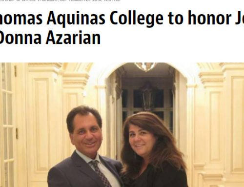 St. Thomas Aquinas College to honor John and Donna Azarian